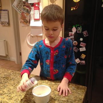 Preparing magic reindeer food