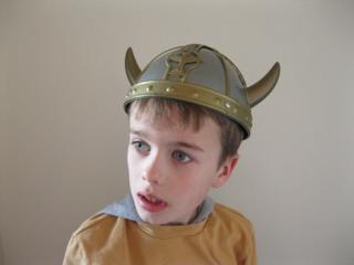 Tickled Pink Viking Helmet